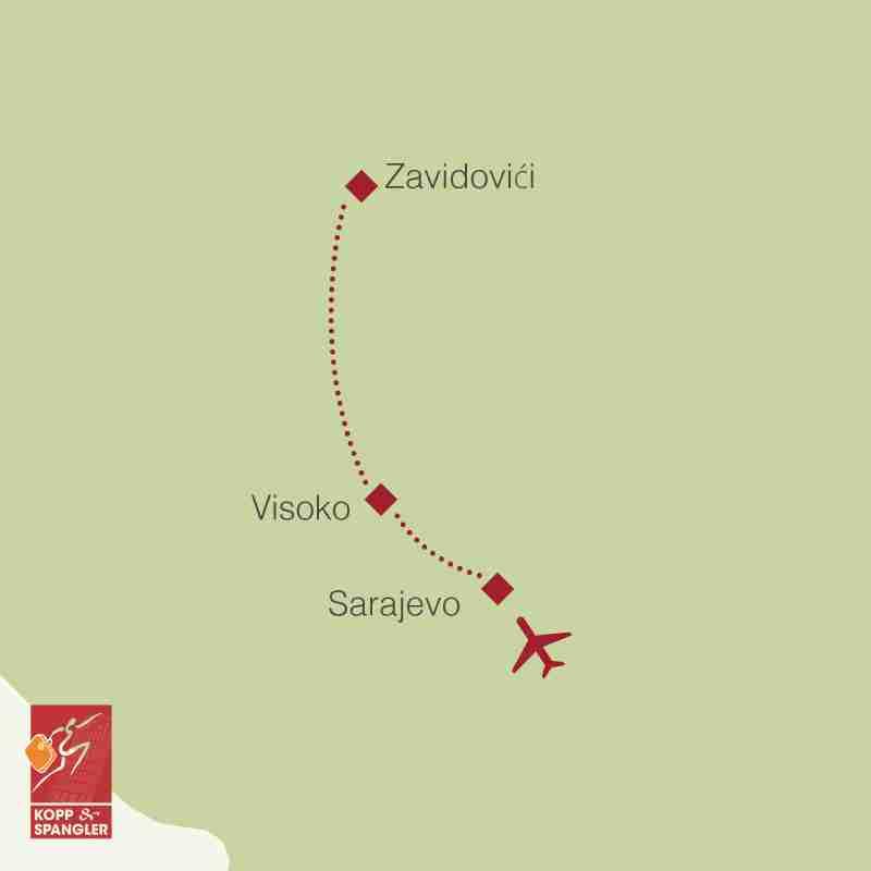Reiseroute: Bosnien Pyramiden