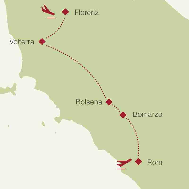 Reiseroute: Etrurien