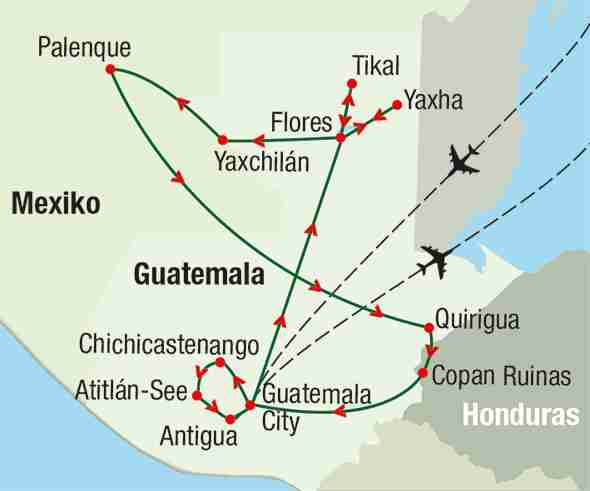 Reiseroute: Guatemala