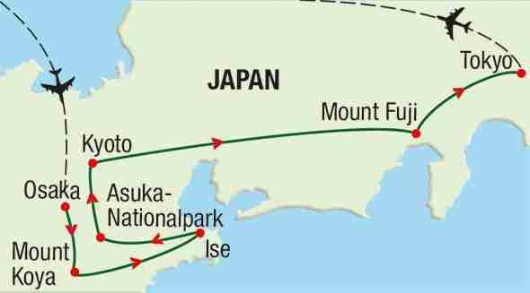 Reiseroute: Japan