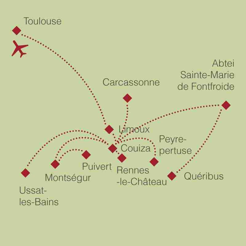 Reiseroute: Südfrankreich