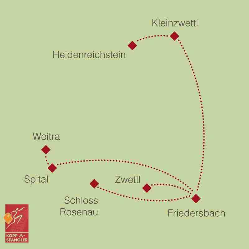 Reiseroute: Mystisches Waldviertel
