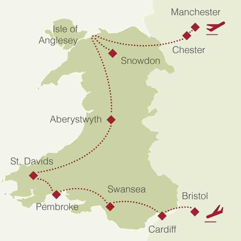 Reiseroute: Rundreise Wales