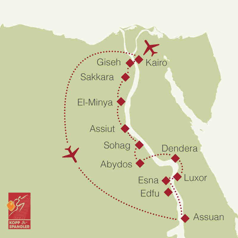Reiseroute: Ägypten
