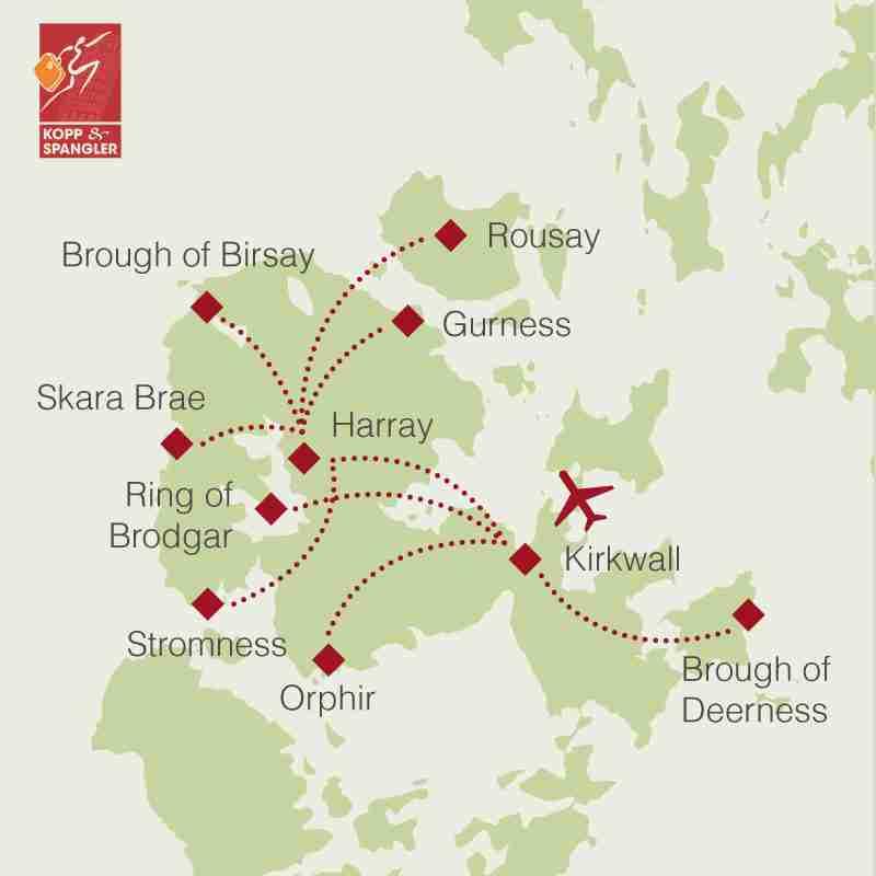 Reiseroute: Orkney-Inseln