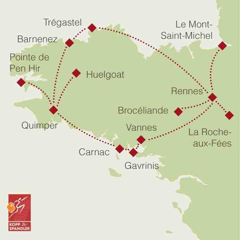 Reiseroute: Rundreise Bretagne