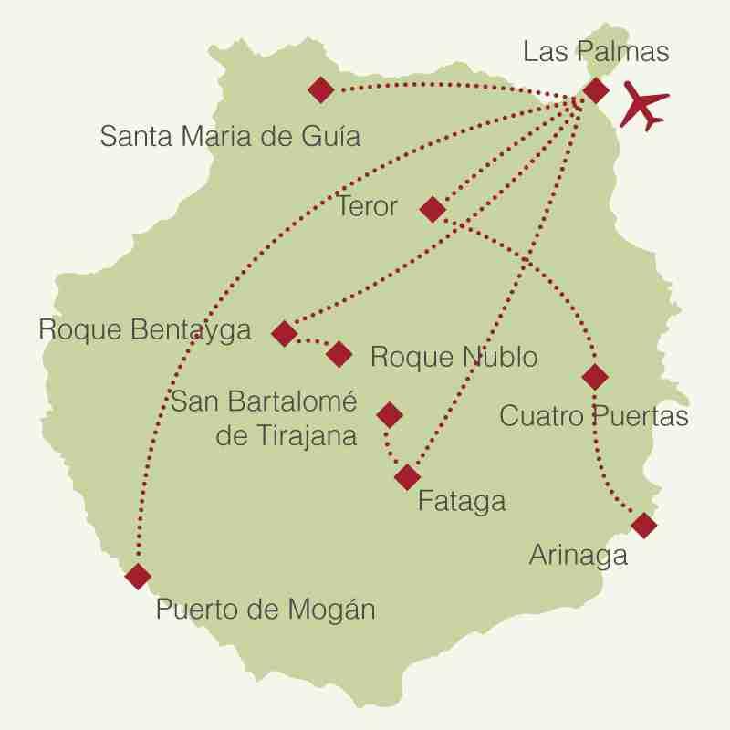 Reiseroute: Rundreise Gran Canaria