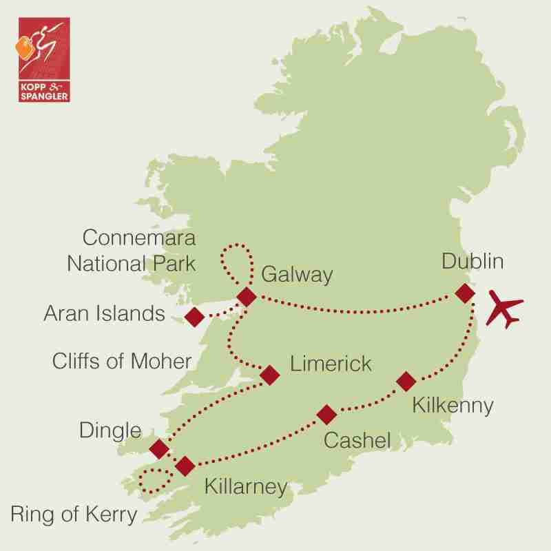 Reiseroute: Rundreise Irland