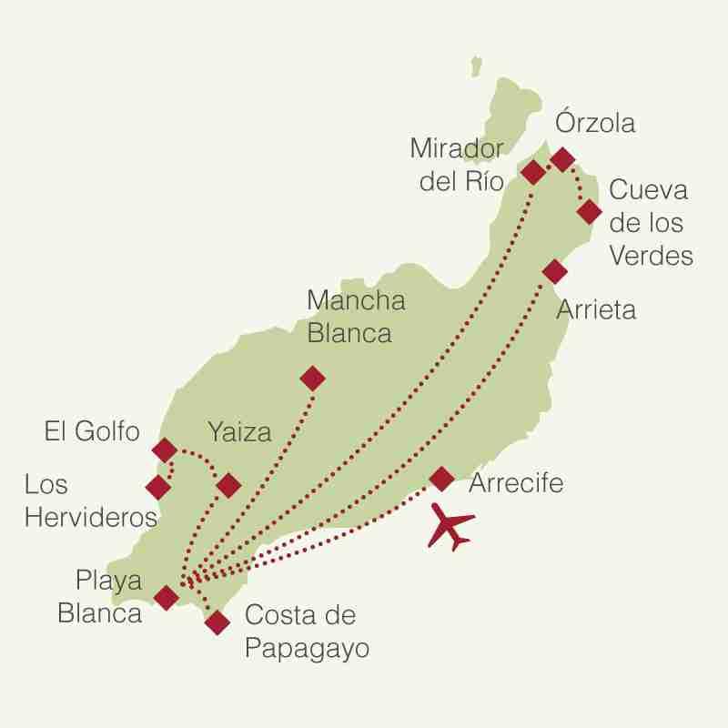 Reiseroute: Rundreise Lanzarote